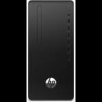 HP 290 G4 DDR4-SDRAM i5-10500 Micro Tower 10th gen Intel® Core™ i5 8 GB 256 GB SSD Windows 10 Pro PC Black