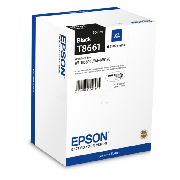 Epson C13T866140 (T8661) Ink cartridge black, 2.5K pages, 56ml
