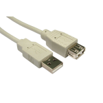 Cables Direct CDL-022BG 1.8m USB A USB A Male Female Beige USB cable