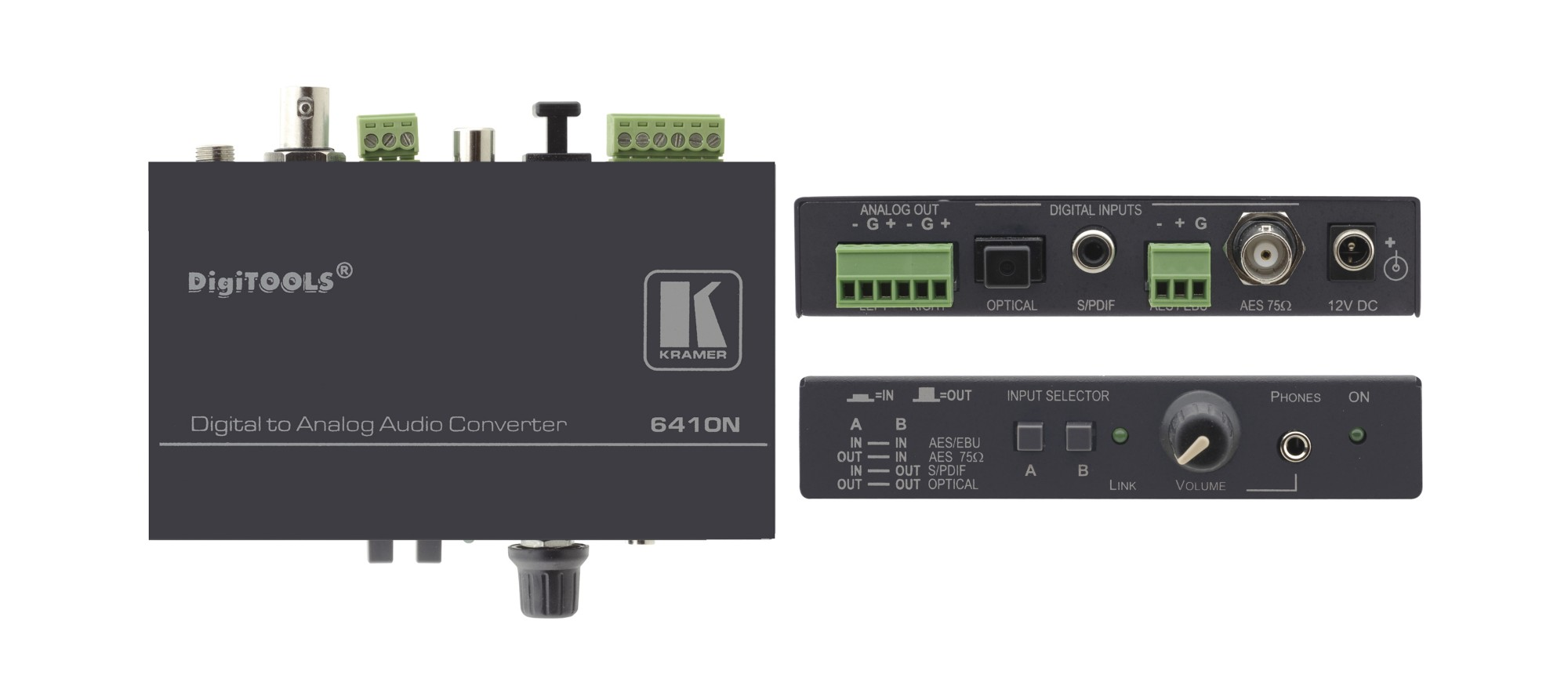 Kramer Electronics 6410N Black audio converter