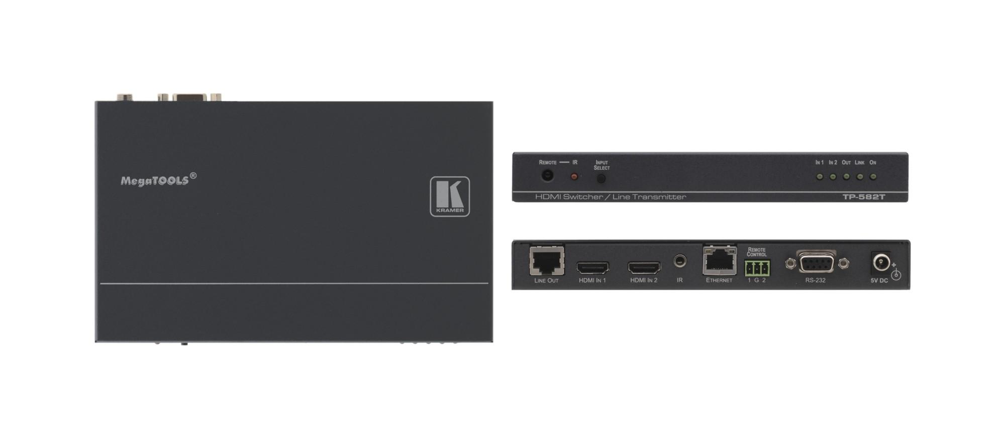 Kramer Electronics TP-582T AV transmitter Black AV extender