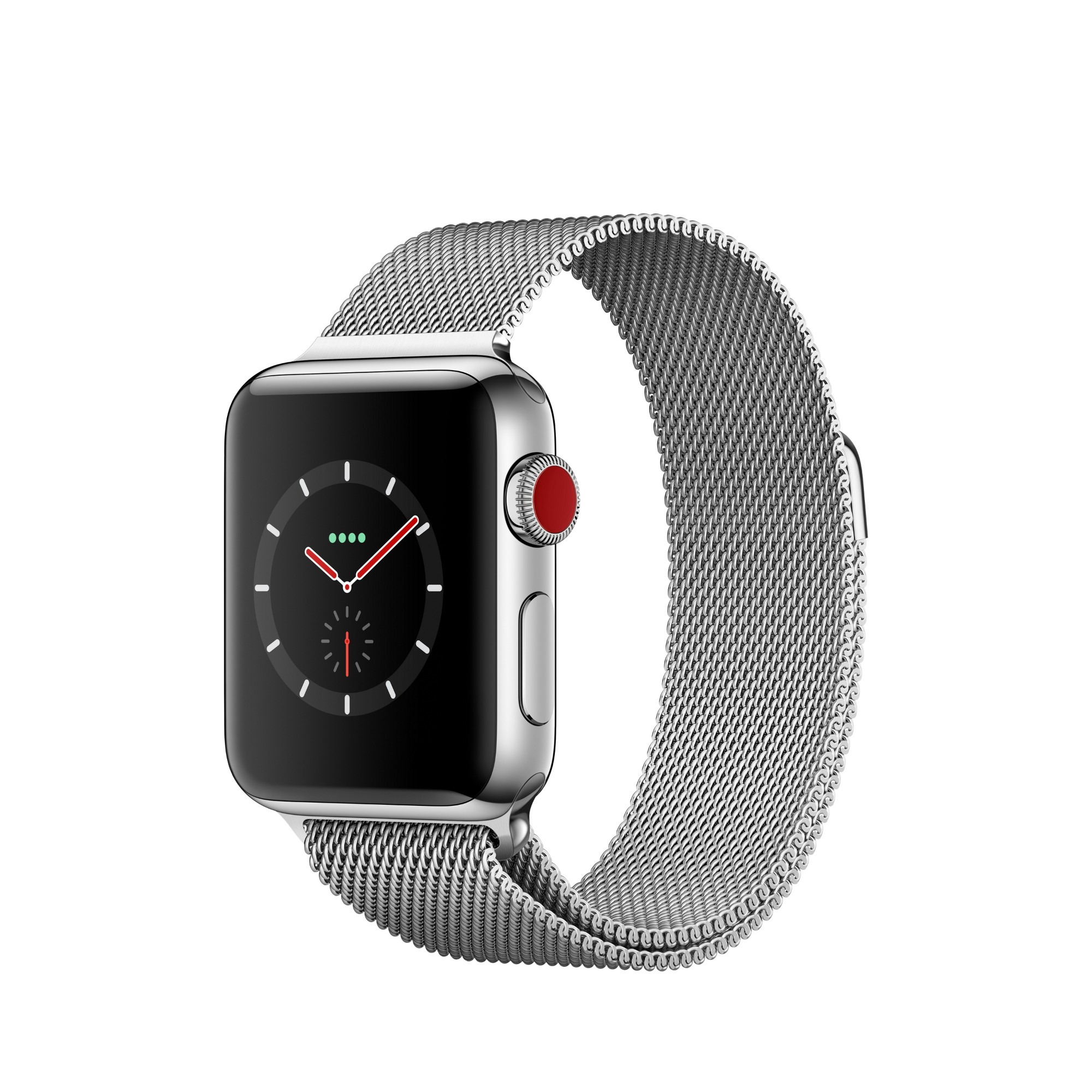 Watch Series 3 (gps + Cellular) - 38 Mm - Stainless Steel - Smart Watch With Milanese Loop (MR1N2B/A)