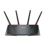 ASUS DSL-AC68VG draadloze router Dual-band (2.4 GHz / 5 GHz) Gigabit Ethernet Zwart