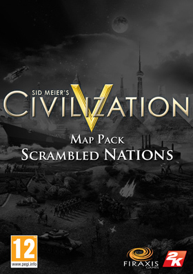 Nexway Civilization V - Scrambled Nations Map Pack, PC Video game downloadable content (DLC) Sid Meier's Civilization V Español