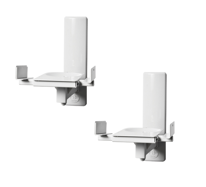 Ultragrip Pro Side Clamping Loudspeaker Wall Mount With Tilt And Swivel - White (bt77/w)