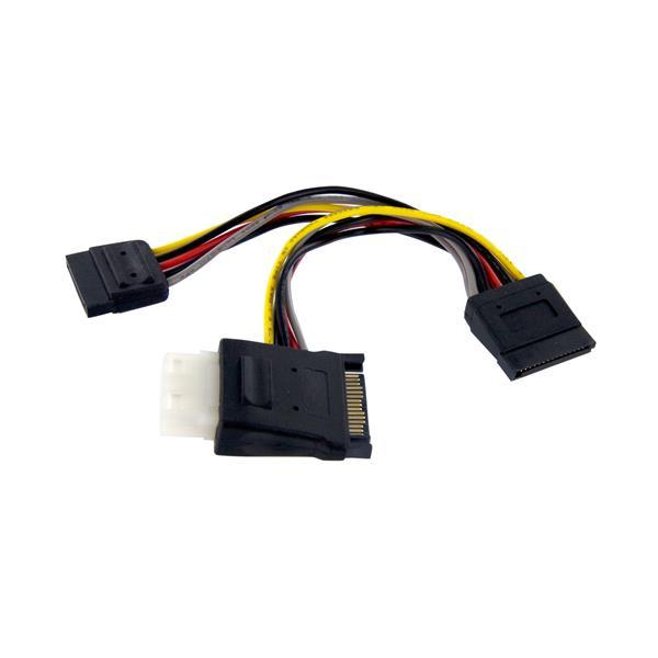 StarTech.com SATA to LP4 with 2x SATA Power Splitter Cable PYOLP42SATA