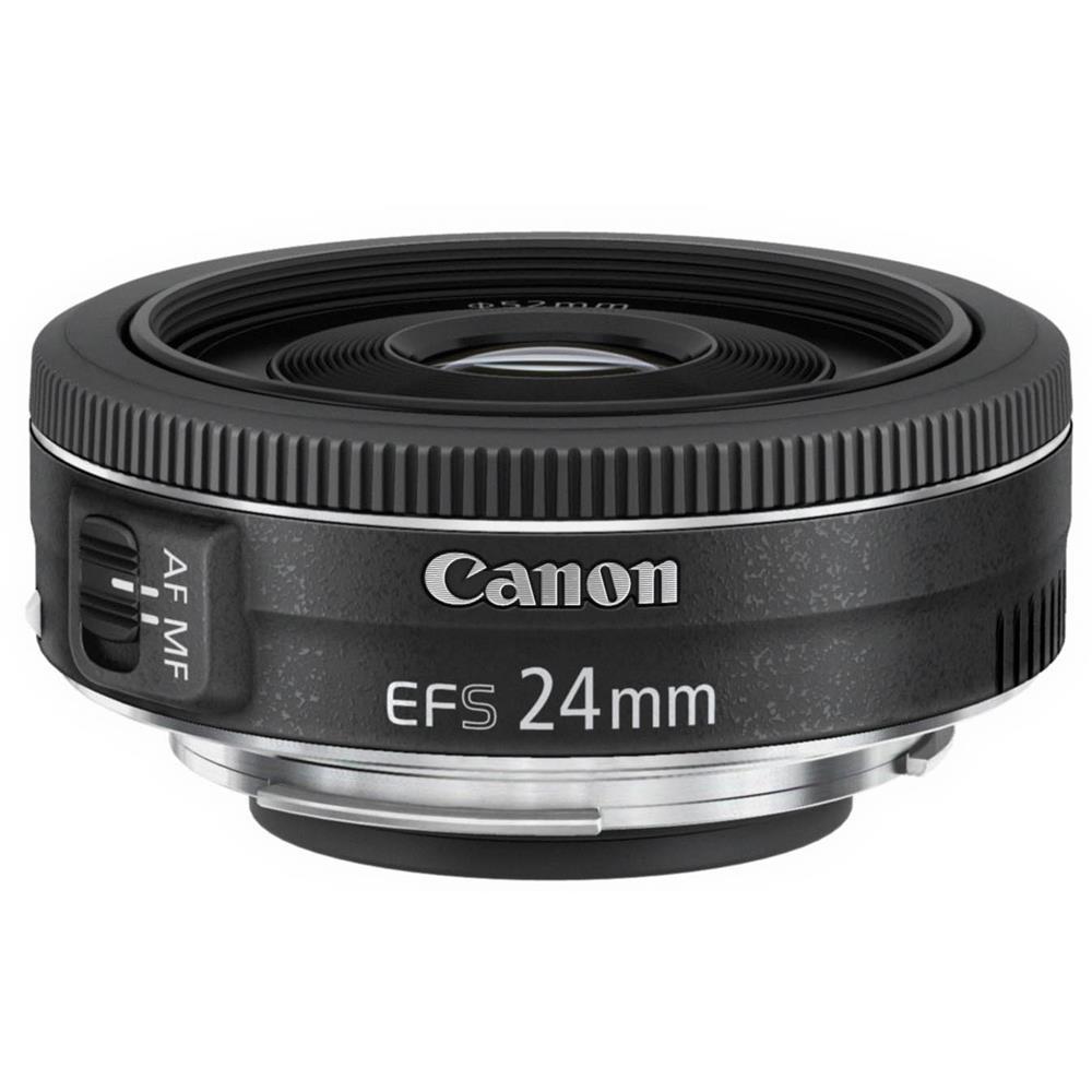 Canon EF-S 24mm f/2.8 STM Objetivo ancho Negro