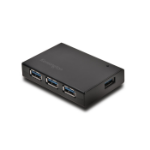 Kensington UH4000C USB 3.0 4-Port Hub & Charger — Black