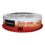 Sony 25 X 4.7GB DVD-RW 2X REC SPEED