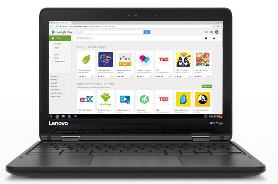 "Lenovo N23 1.6GHz N3060 11.6"" 1366 x 768pixels Black Chromebook"