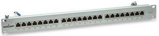 Shielded Patch Panel 24 Port CAT6 Grey