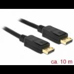 DeLOCK 84862 DisplayPort cable 10 m Black
