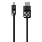 Belkin Mini DisplayPort to HDTV Cable 1.8 m HDMI Black