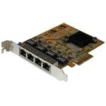 StarTech.com 4-Port PCIe Gigabit Network Adapter Card