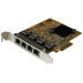StarTech.com Tarjeta de Red PCI Express Ethernet Gigabit con 4 Puertos RJ45