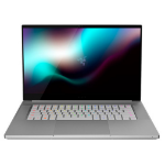 "Razer Blade 15 Studio Edition Notebook Silver 39.6 cm (15.6"") 3840 x 2160 pixels Touchscreen 10th gen Intel® Core™ i7 32 GB DDR4-SDRAM 1000 GB SSD NVIDIA Quadro RTX 5000 Wi-Fi 6 (802.11ax) Windows 10 Pro"