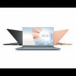 "MSI Modern 14 B11SB-009XES Portátil Gris 35,6 cm (14"") 1920 x 1080 Pixeles Intel Core i7-11xxx 16 GB DDR4-SDRAM 512 GB SSD NVIDIA GeForce MX450 Wi-Fi 5 (802.11ac) FreeDOS"