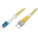 Digitus 5m LC / ST 5m LC ST Blue, White, Yellow fiber optic cable
