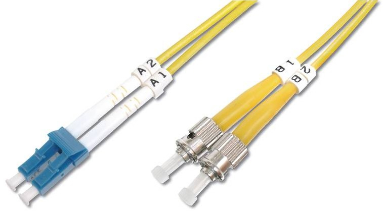 Digitus 5m LC / ST fibre optic cable OS2 Blue,White,Yellow