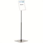 Durable 498123 sign holder/information stand A4 Metal Silver