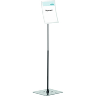 Durable 498123 Information stand A4 Metal Silver sign holder/information stand