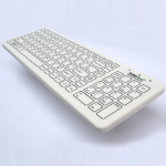 Keytools SterileFlat Keyboard. Antibacterial USB Wired Medical Keyboard with a Nano Silver impregnated Antiba