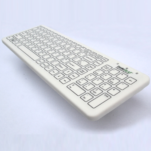 Keytools SterileFlat Keyboard. Antibacterial USB Wired Medical Keyboard with a Nano Silver impregnated Antiba
