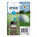 Epson Golf ball Singlepack Cyan 34XL DURABrite Ultra Ink