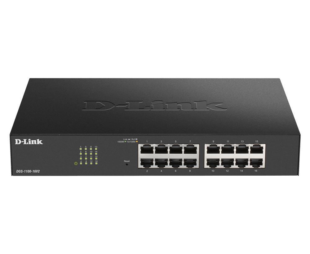 D-Link DGS-1100-24PV2 switch Gestionado Gigabit Ethernet (10/100/1000) Negro Energía sobre Ethernet (PoE)