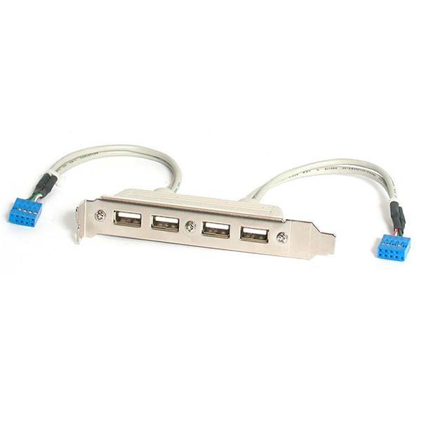 StarTech.com Cabezal Bracket de 4 puertos USB 2.0 con Conexión a Placa Base 2x IDC10