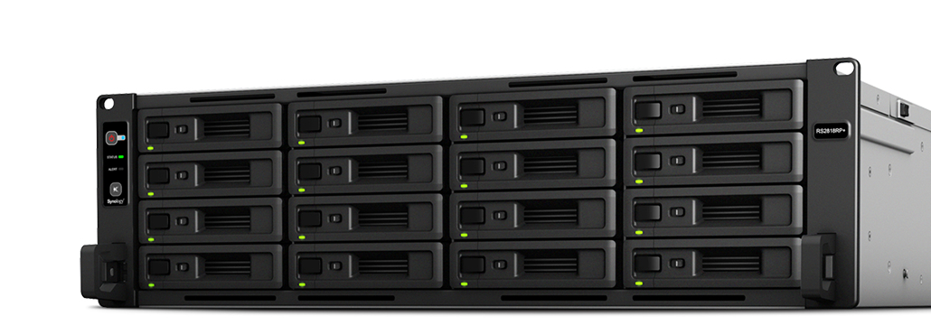 Synology RackStation RS2818RP+ Ethernet LAN Rack (3U) Black NAS