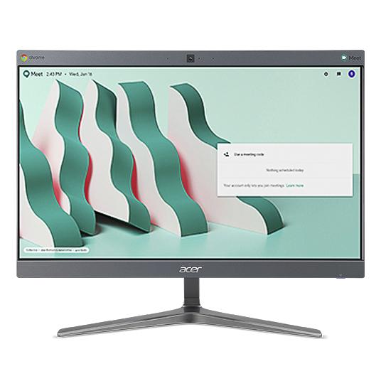 "Acer Chromebase 24 24V2 60,5 cm (23.8"") 1920 x 1080 Pixeles 8ª generación de procesadores Intel® Core™ i7 4 GB DDR4-SDRAM 128 GB SSD Wi-Fi 5 (802.11ac) Gris PC todo en uno Chrome OS"