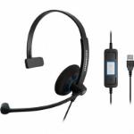 Sennheiser SC 30 USB CTRL Monaural Head-band Black headset