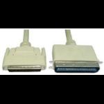 Cables Direct 2m HP68/50C M/M SCSI cable Beige External DB68/HP Centronics C50