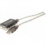Hypertec 149213-HY USB cable 12 m 2.0 USB A Black, Transparent