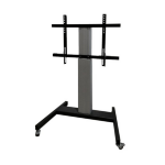 "Newstar PLASMA-M2250SILVER 100"" Portable flat panel floor stand Silver flat panel floorstand"