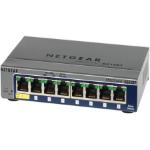 NETGEAR GS108T-200AUS, 8-PORT FULL DUPLEX GIGABIT SMART SWITCH