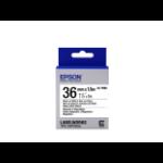 Epson Label Cartridge Magnetic LK-7WB2, zwart/wit 36 mm (1,5 m)
