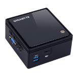 Gigabyte GB-BACE-3160 1.6GHz J3160 0.69L Sized PC Black PC/workstation barebone