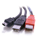 C2G USB Mini-B/USB A Y-Cable cable USB 2 m 2.0 Mini-USB B Negro