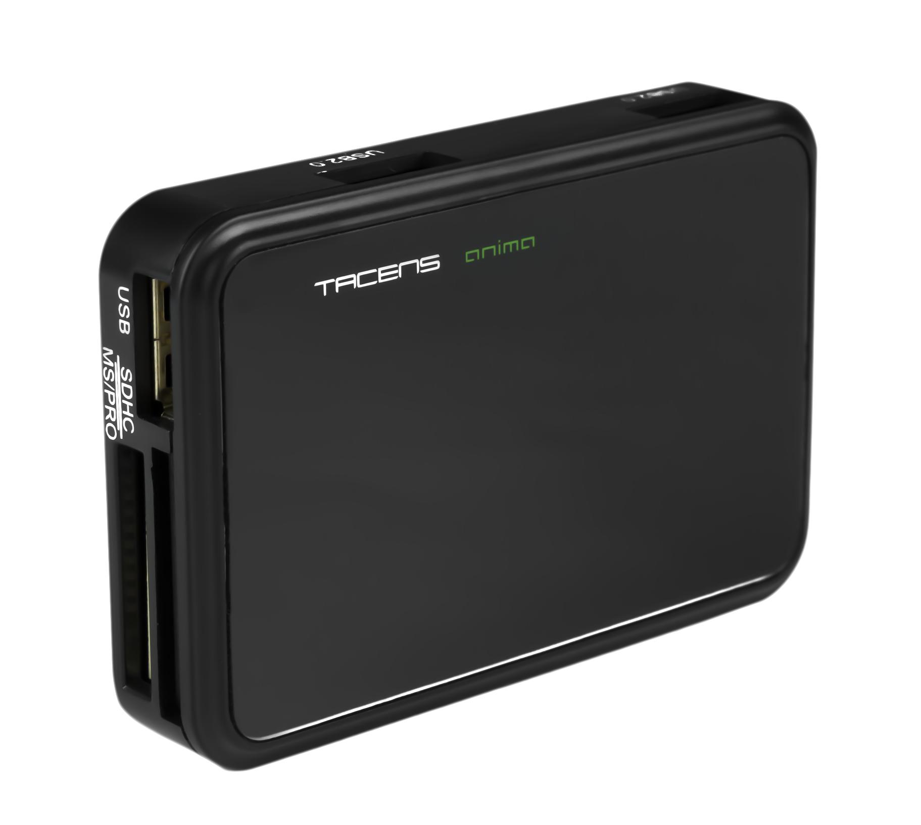 Tacens Anima ACRM3 USB 2.0 Negro lector de tarjeta