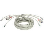 Lindy 3 KVM Cable Grey 3m