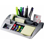 Post-It Desktop Organizer, C50 Silver note paper dispenser