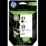 HP 21/22 Origineel Zwart, Cyaan, Magenta, Geel Multipack 2 stuk(s)