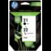 HP 21/22 Original Negro, Cian, Magenta, Amarillo Multipack 2 pieza(s)