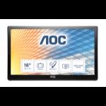 """AOC 59 Series E1659FWU LED display 39.6 cm (15.6"""") 1366 x 768 pixels Black"""