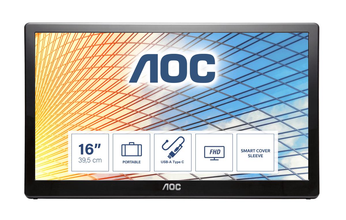 """AOC 59 Series E1659FWU LED display 39.6 cm (15.6"""""""") 1366 x 768 pixels Black"""