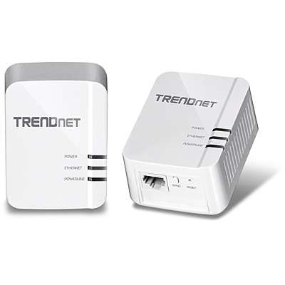 Trendnet TPL-420E2K 1200Mbit/s Ethernet LAN White 2pc(s) PowerLine network adapter