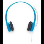 Logitech H150 Binaural Head-band Blue headset