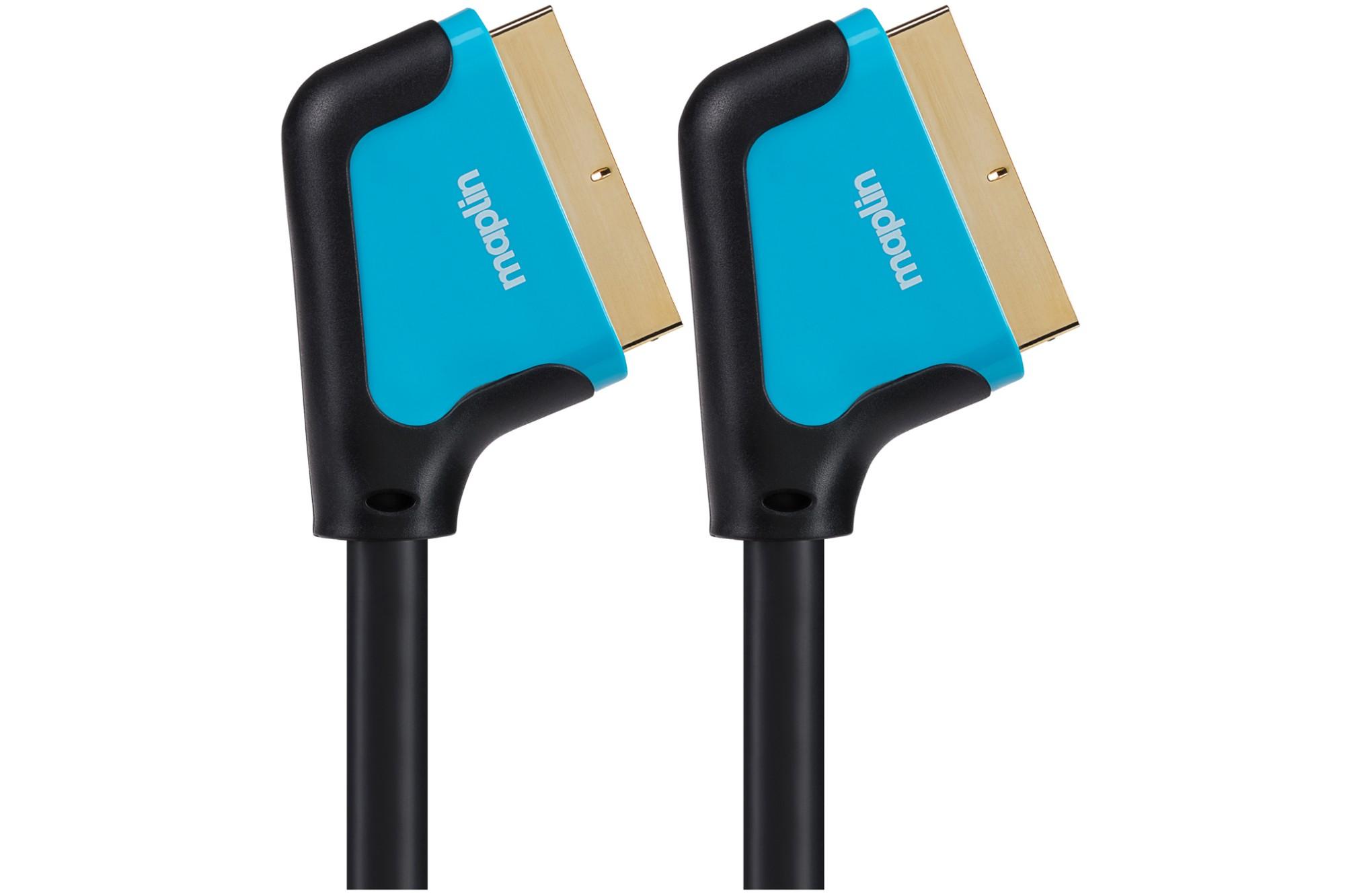MAPLIN Premium 21 Pin Connector SCART Cable - Black, 3m